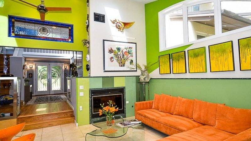 Orange Green Living Room Decorating Ideas Modern House