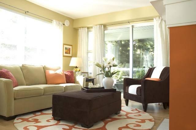 Orange Green Living Room