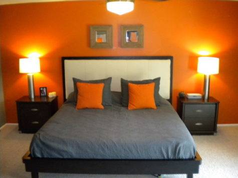 Orange Grey Bed Room Pinterest Bedrooms