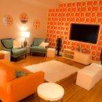 Orange Interior Design Living Room Color Scheme Youtube