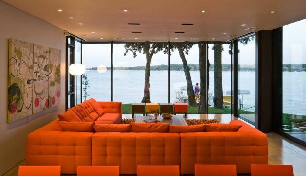 Orange Living Room Interior Design Ideas
