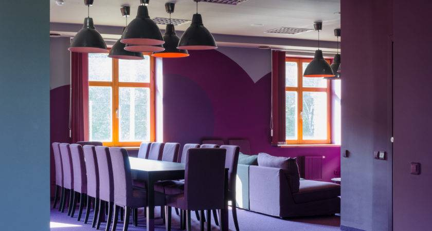 Orange Meets Purple Office Lounge Recreational Space