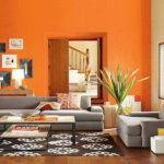 Orange Wall Paint Living Room Imgkid