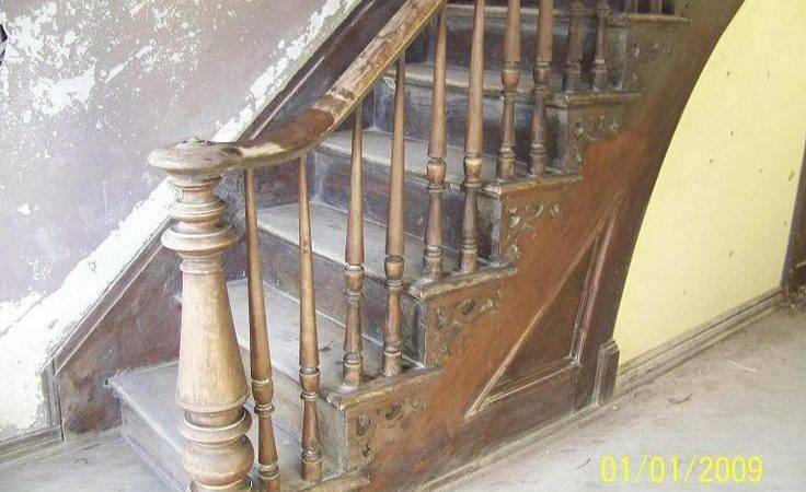 Original Staircase Antique Walnut Still Intact