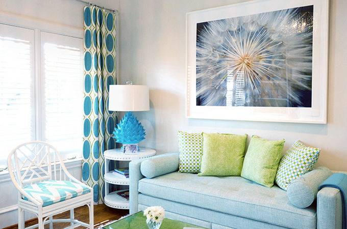 Our Current Obsession Turquoise Curtains