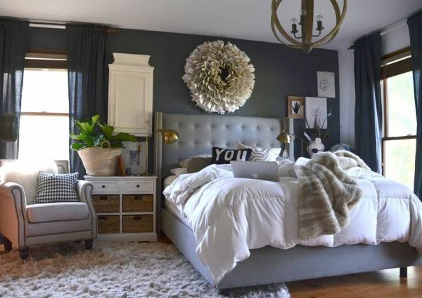 Our Wood White Gray Bedroom
