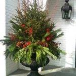 Outdoor Christmas Decorating Pots Ideas Best