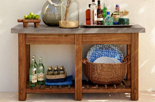 Outdoor Console Tables Buffet Pottery Barn