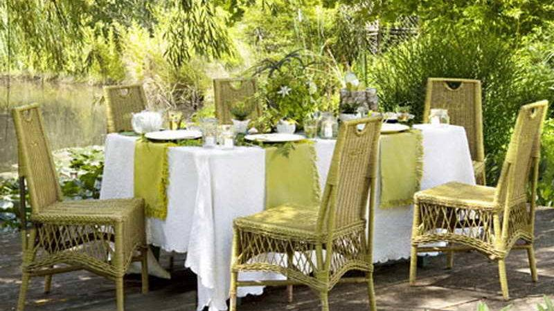Outdoor Dinner Party Ideas Wricker Chair Home