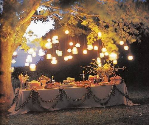 Outdoor Dinner Party Lights Home Designs