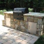 Outdoor Kitchen Built Charcoal Grill Design Ideas