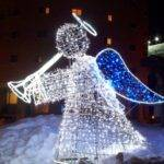 Outdoor Lighted Angel Christmas Decorations Design