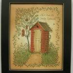 Outhouse Dear Country Landmark Framed