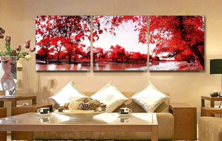 Outstanding Paintings Living Room Design Wall