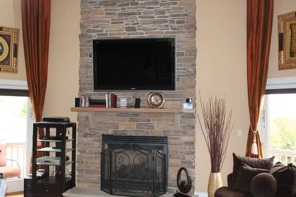 Over Faux Stone Fireplace Yelp