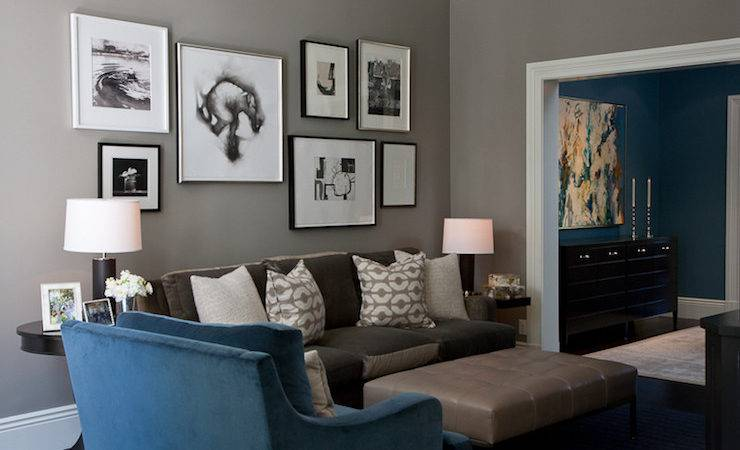Over Sofa Art Transitional Living Room Para