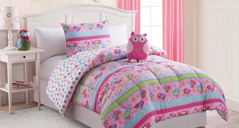 Owl Twin Bedding Set Simple Beds Storage