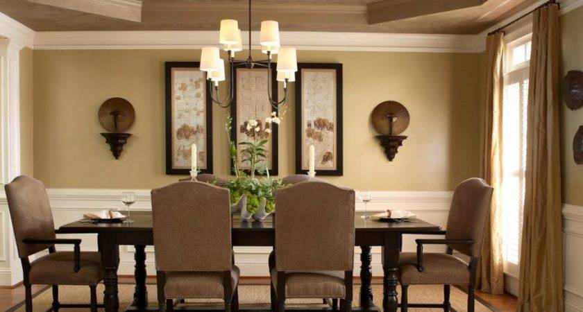 Paint Ideas Dining Room Metal Chandelier Wooden Wall