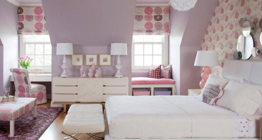 Paint Ideas Teenage Girl Bedroom White Blue Colors Bed
