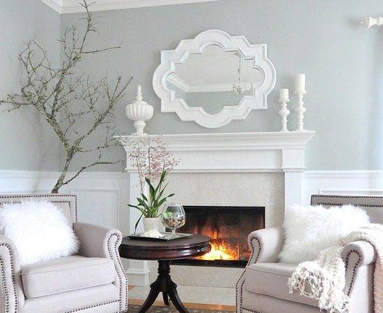 Paint Very Light Grey Blue Living Room House