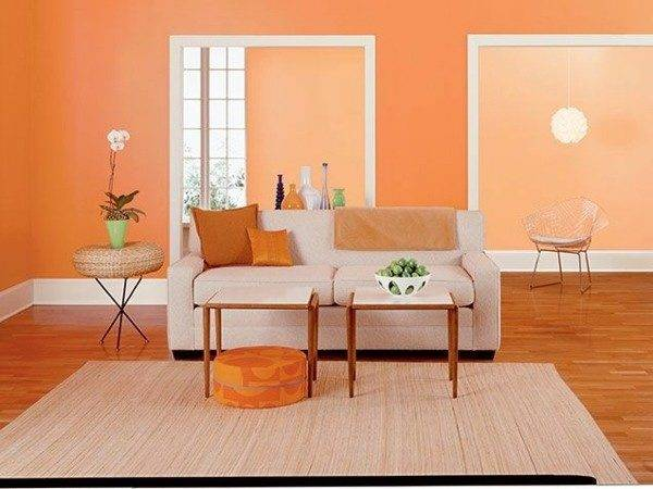 Paint Walls Ideas Orange Wall Design