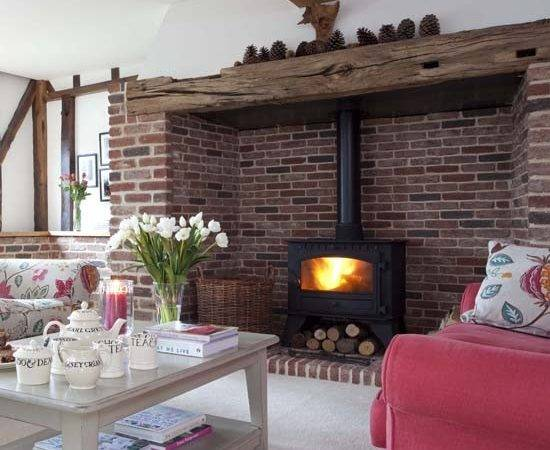 Painting Fireplace Alcoves Interior Design Ideas