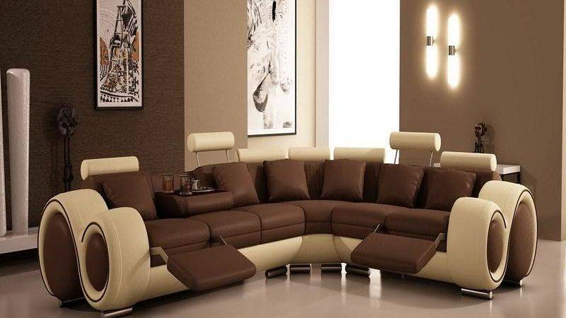Painting Ideas Living Rooms Modern Brown Color Scheme