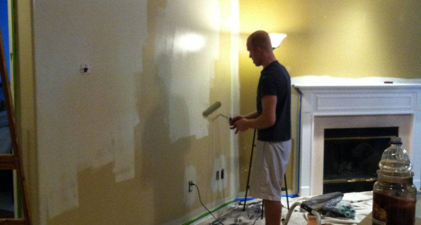 Painting Living Room Walls Two Colors Design