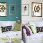 Painting One Wall Different Color Bedroom Home Combo
