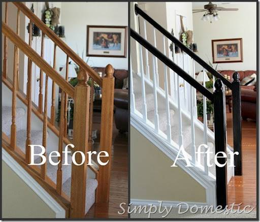 Painting Our Banister Simply Domestic