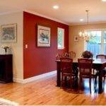 Painting Small Dining Room Merlot Red Accent Wall