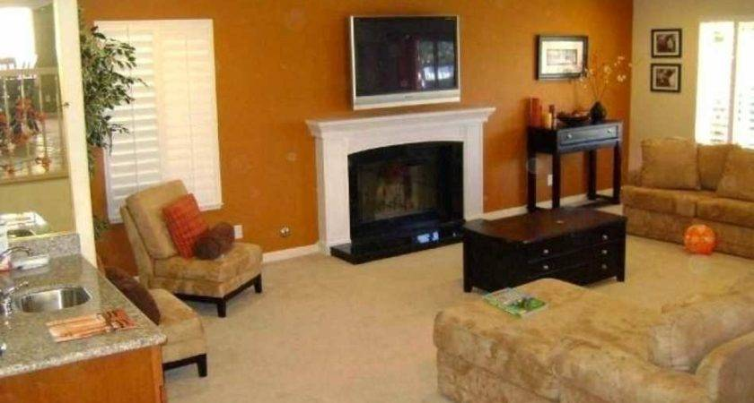 Painting Walls Ideas Living Room Latest Red Accent