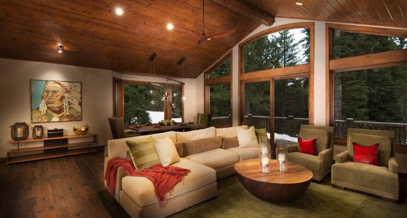 Painting Wood Floors Living Room Rustic Ceiling Fan
