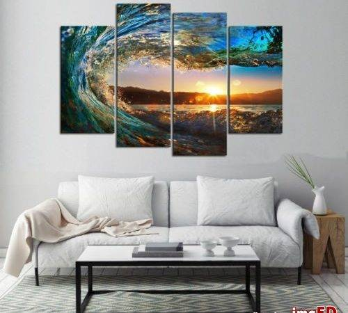 Paintings Wall Canvas Bedroom Living Room Ocean Beach