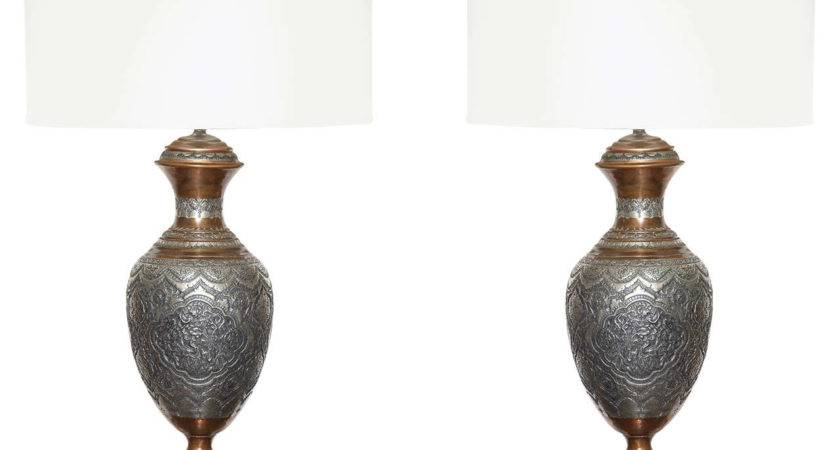 Pair Moroccan Style Table Lamps Stdibs