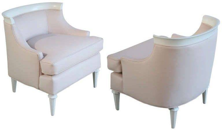 Pair Pale Pink Leather Bergere Chairs Stdibs