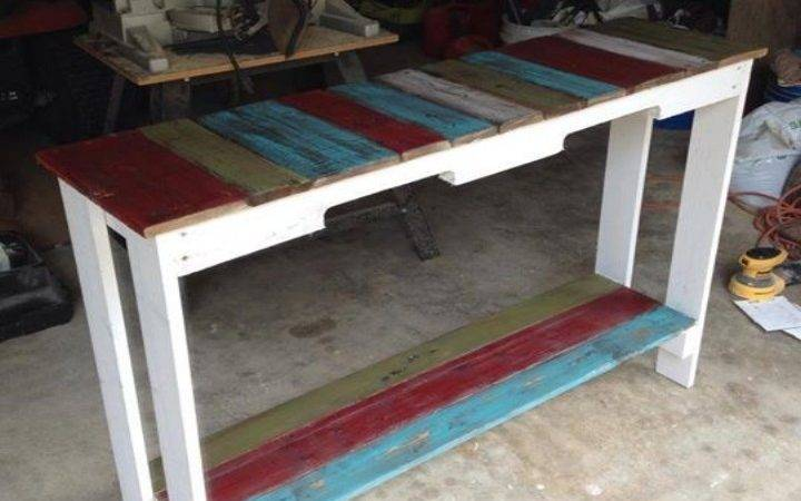 Pallets Colored Benches Tables Pallet Ideas