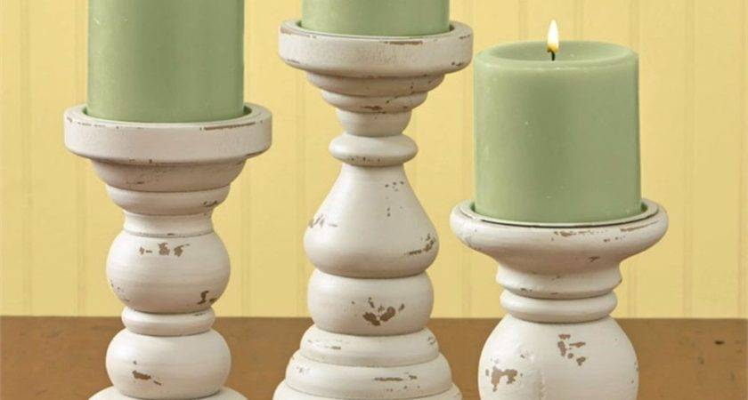 Park Designs Southport Short Wooden Candle Holders Set