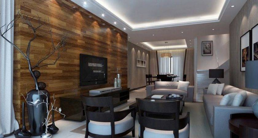 Partition Cabinet Wood Wall Living Room