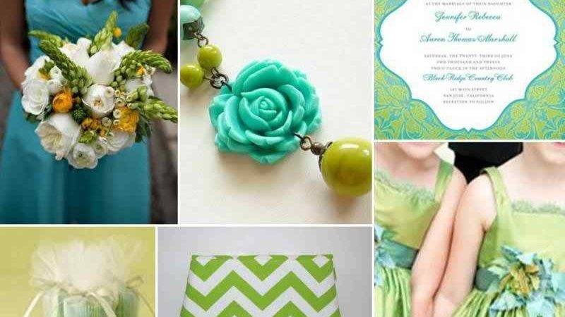 Party Pizazz Tiffany Blue Chartreuse White