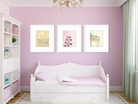 Pastel Nursery Decor Carnival Set Toddler Girl Room