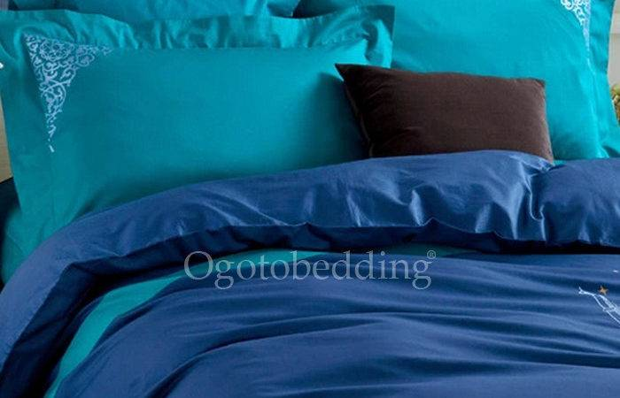 Patterned Dark Teal Luxury Modern Duvet Covers King