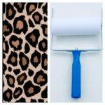 Patterned Paint Roller Leopard Print Design