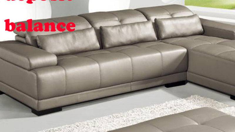 Payments Deposit Balance Living Room Sofa Leather