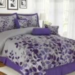Pcs Queen Fresca Purple Gray Bedding Comforter Set Ebay