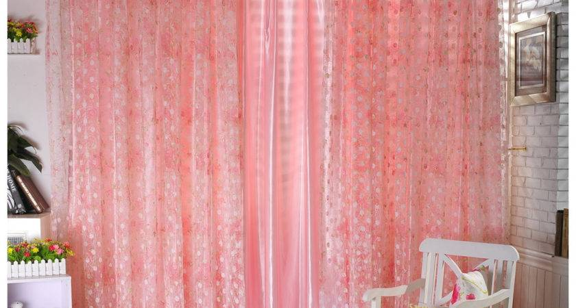 Peach Bedroom Curtains Romantic Bathroom