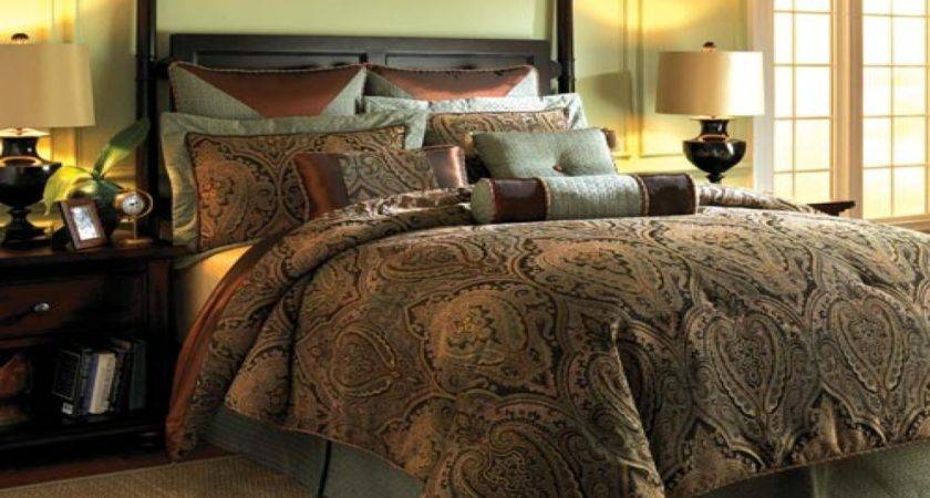 Peach Turquoise Bedding Brown Gold Comforter Set