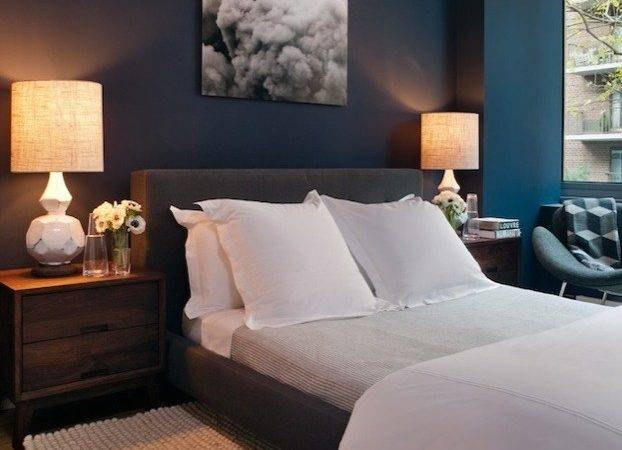 Peacock Blue Bedroom Paint Design Ideas