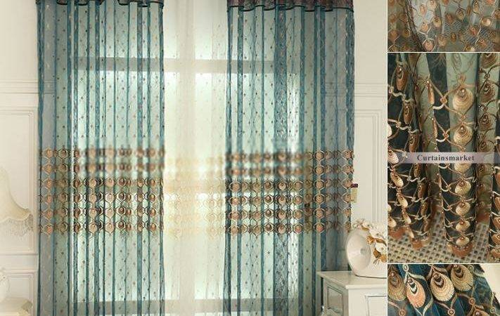 Peacock Color Curtains Shower Curtain