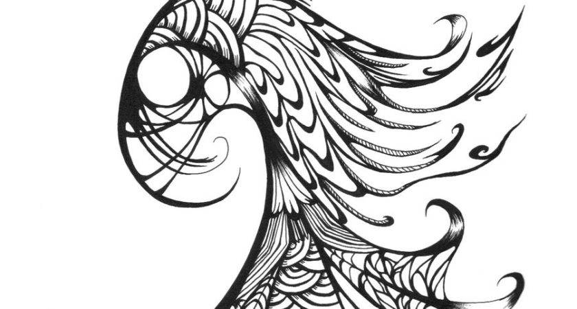 Peacock Drawing Outline